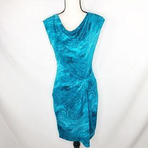 MICHAEL Michael Kors Blue Marble Draped Dress